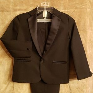 Other - Boy's Black Tuxedo Size 7 Satin Accents
